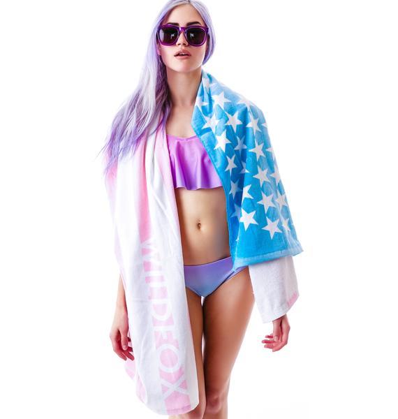 Wildfox Couture Sun Bleached Flag Swim Towel