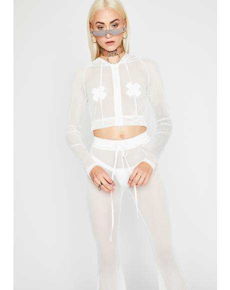 Boo Sheer Mystery Pant Set