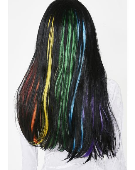 Shining Rainbow Long Wig