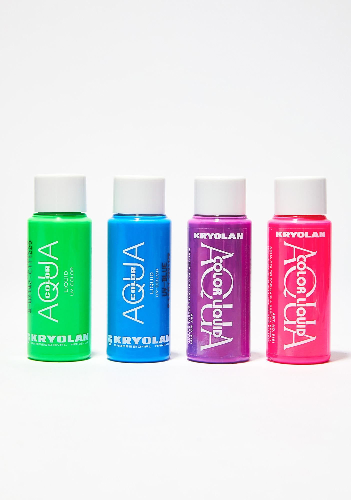 Kryolan Pink Aquacolor Liquid UV Color