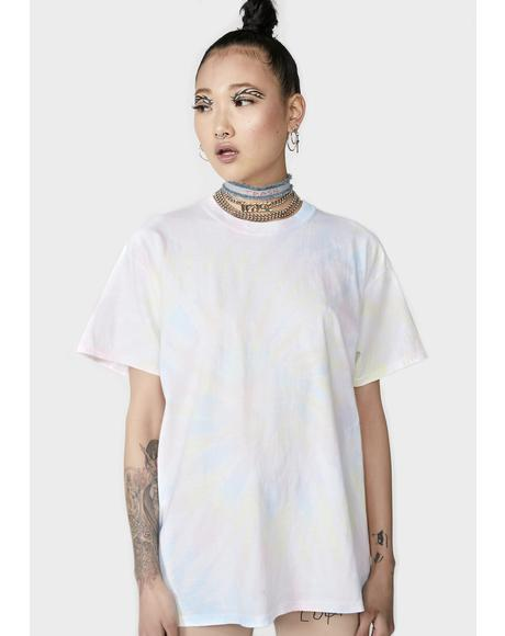Tie Dye Oversize T-Shirt Dress
