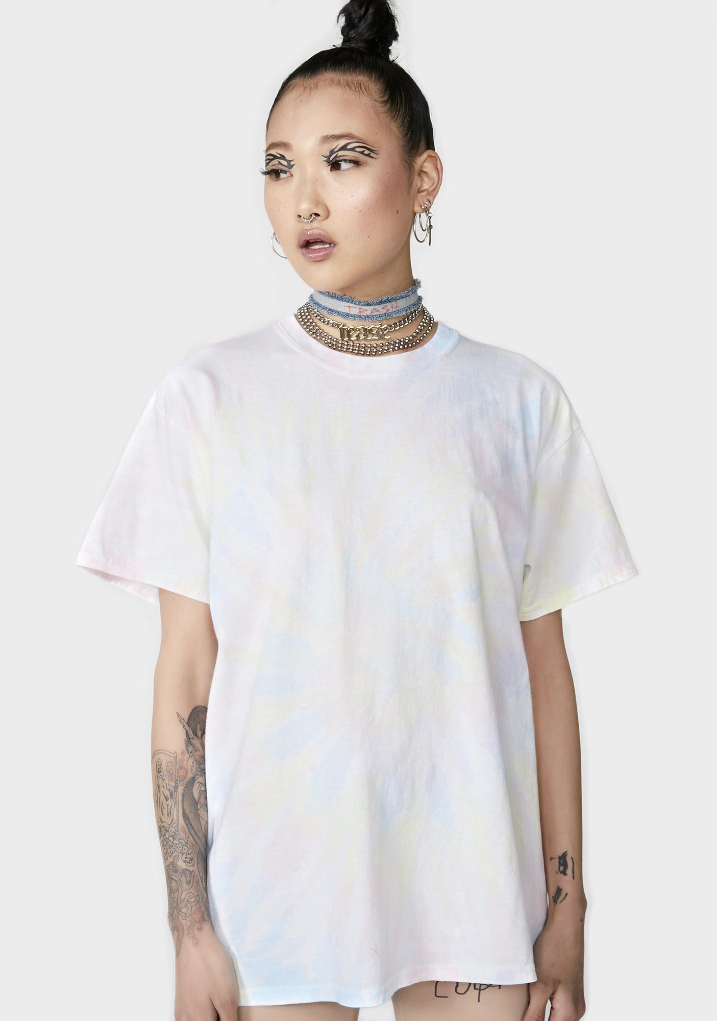 f43c2ffed6a NEW GIRL ORDER Tie Dye Oversize T-Shirt Dress