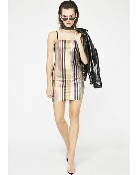 Juiced Alwayz Shinin' Metallic Dress