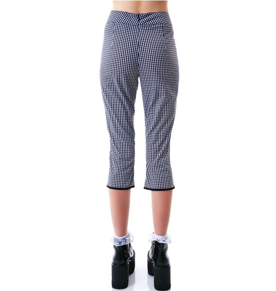 Sourpuss Clothing Lucy Gingham Capris