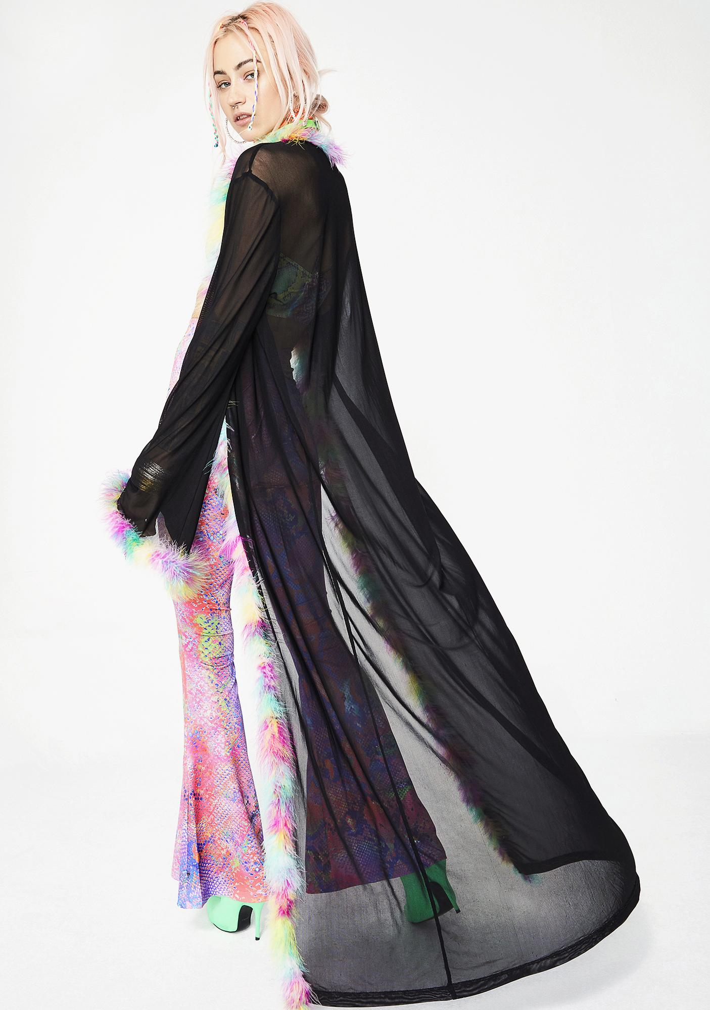 Jaded London Mesh Maxi Kimono