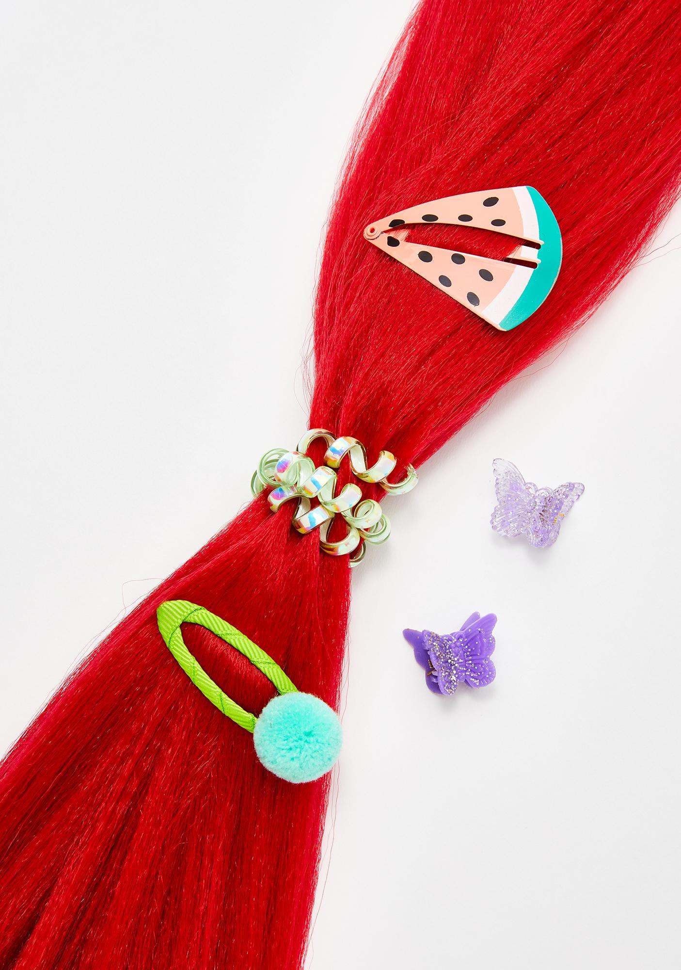 Go Get Glitter Neon Red Add In Hair Extensions