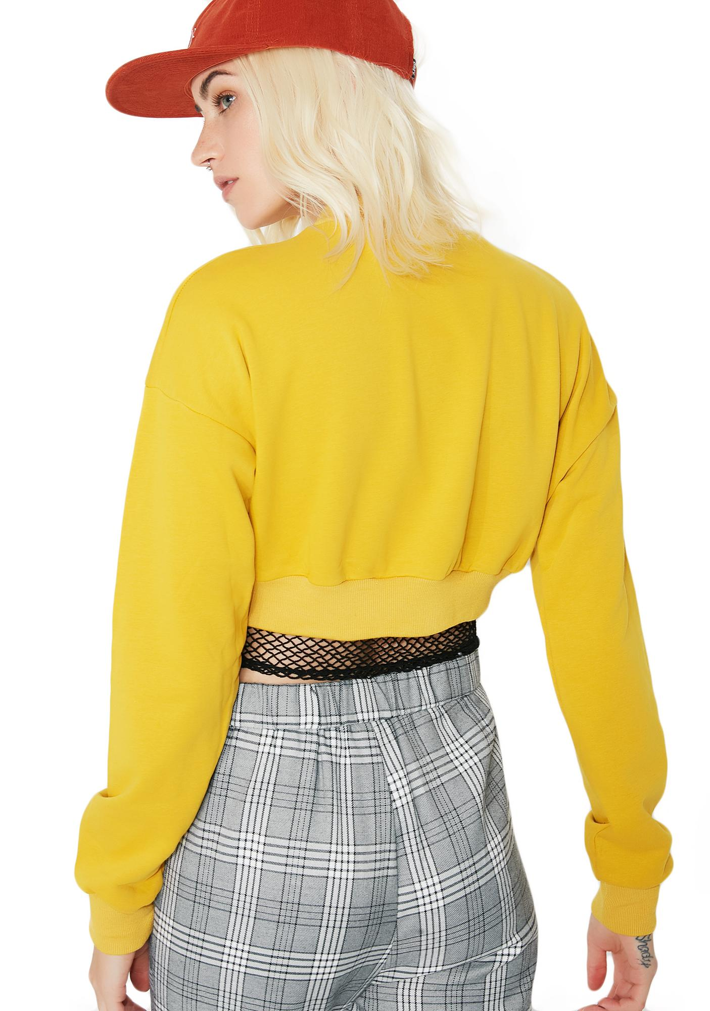 Tweet Me Cropped Sweater