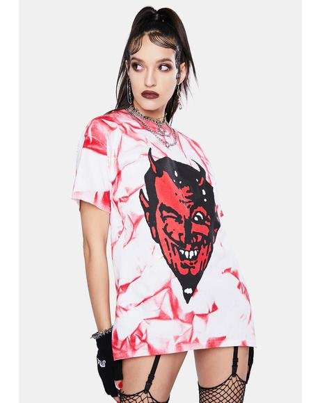 Devil Tie Dye Graphic Tee