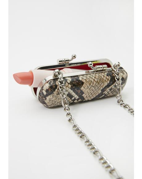 Poisonous Pout Snakeskin Bag