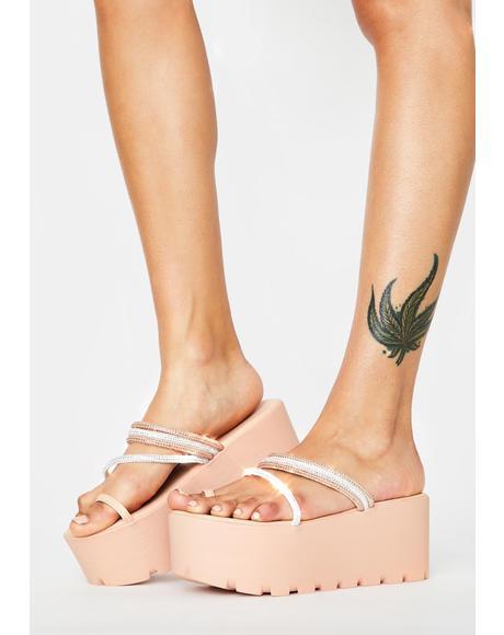 Pink Toyama Platform Sandals