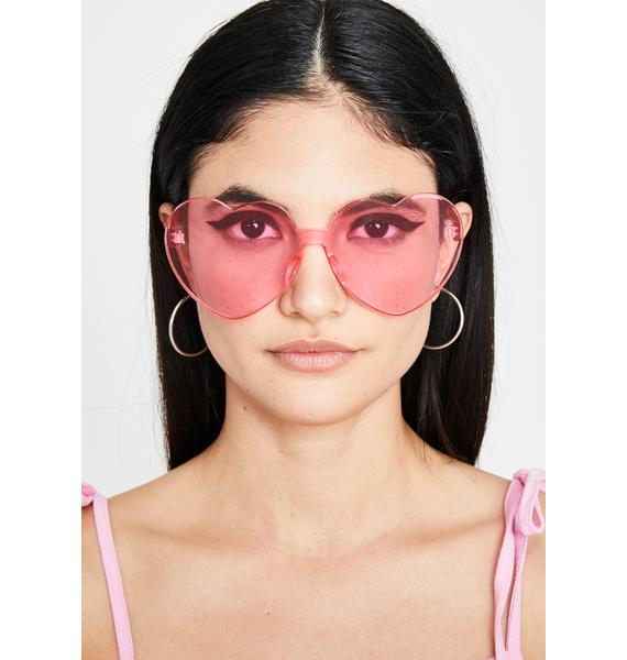 Candy Clearly In Lust Heart Sunglasses