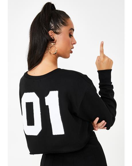 Bish Squad Cropped Sweatshirt