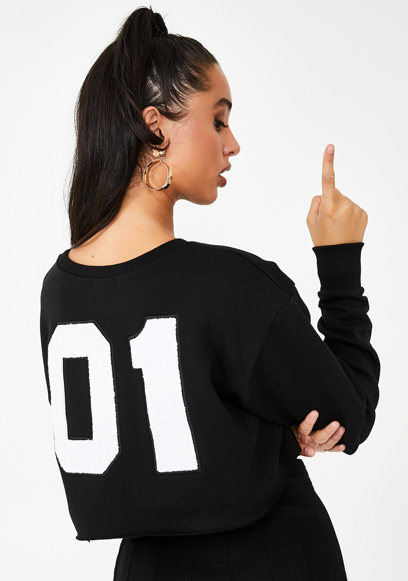 Poster Grl Bish Squad Cropped Sweatshirt