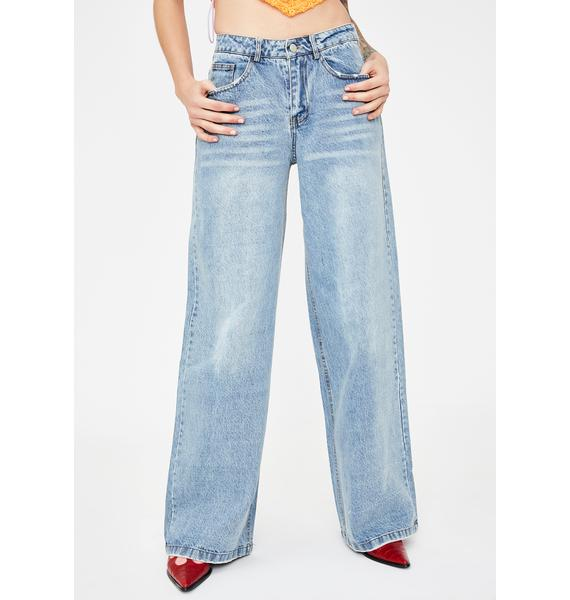 No Dress Light Wash Baggy Boyfriend Jeans