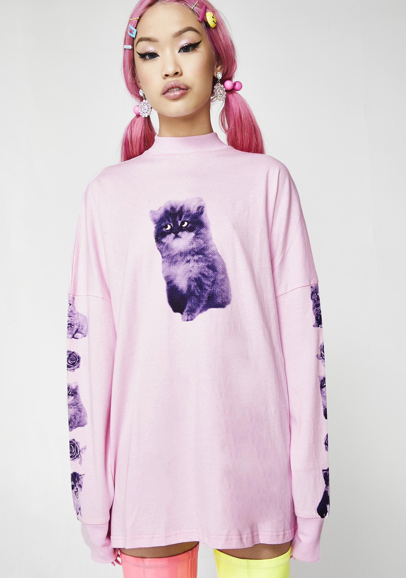Lazy Oaf Mood Swing Cat Long Sleeve