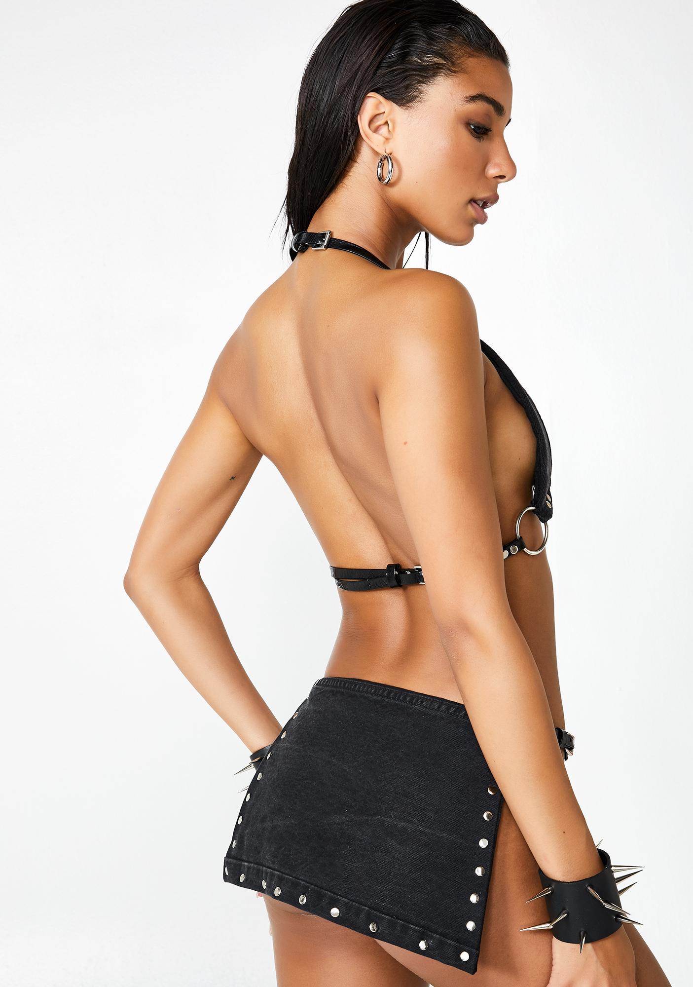VIBORA Los Ángeles Fatima Studded Skirt