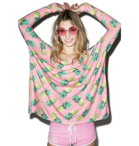 Wildfox Couture  Pineapple Palace Bonfire Beach Tee