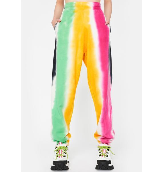 CHINATOWN MARKET All Over Stripe Print Sweatpants