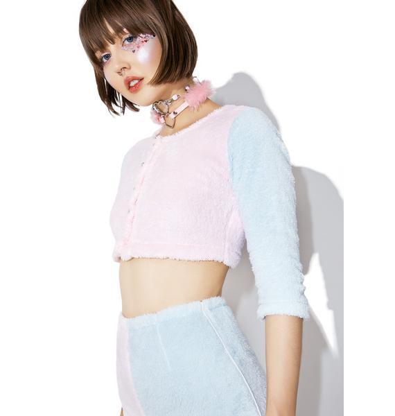 Melonhopper Candy Fluff Pearl Cardigan