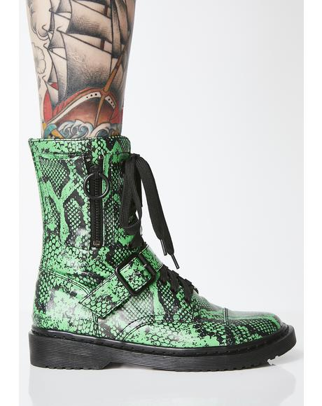 Slithery Sneak Combat Boots