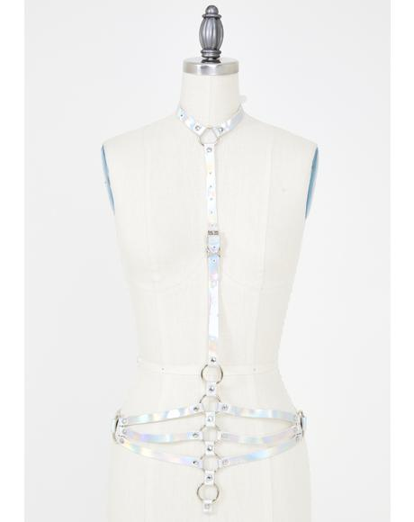Space Babe Holographic Harness