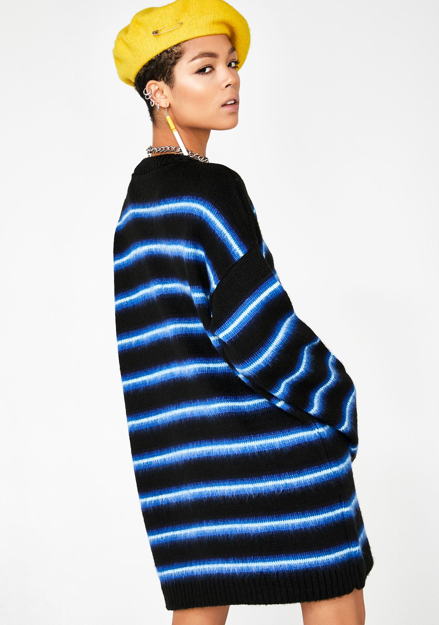 The Ragged Priest Stripe Brush Knit Dress