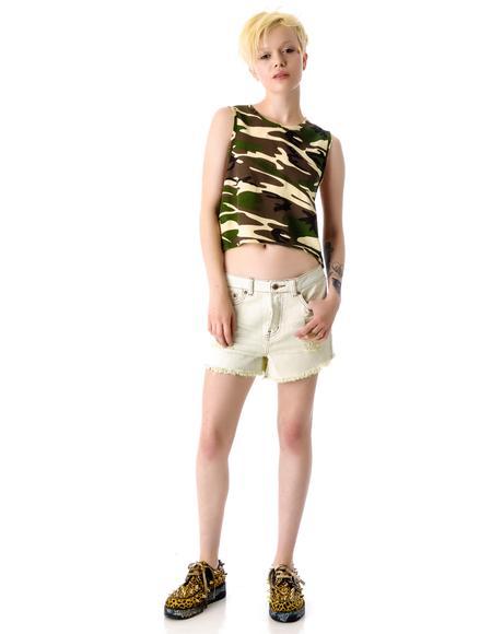 Hunter Denim Boyfriend Shorts