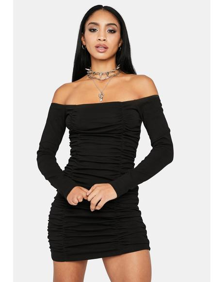 When I Walk In Off Shoulder Mini Dress