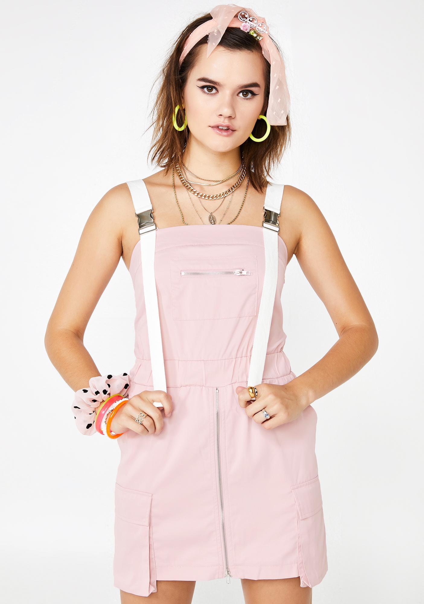 7ce4ddc86585 Cargo Buckle Strap Mini Dress | Dolls Kill