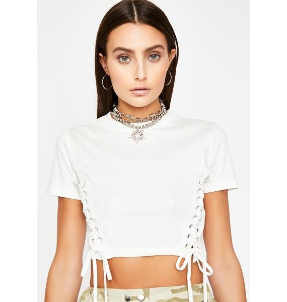 Boo Nothing But Trouble Crop Tee
