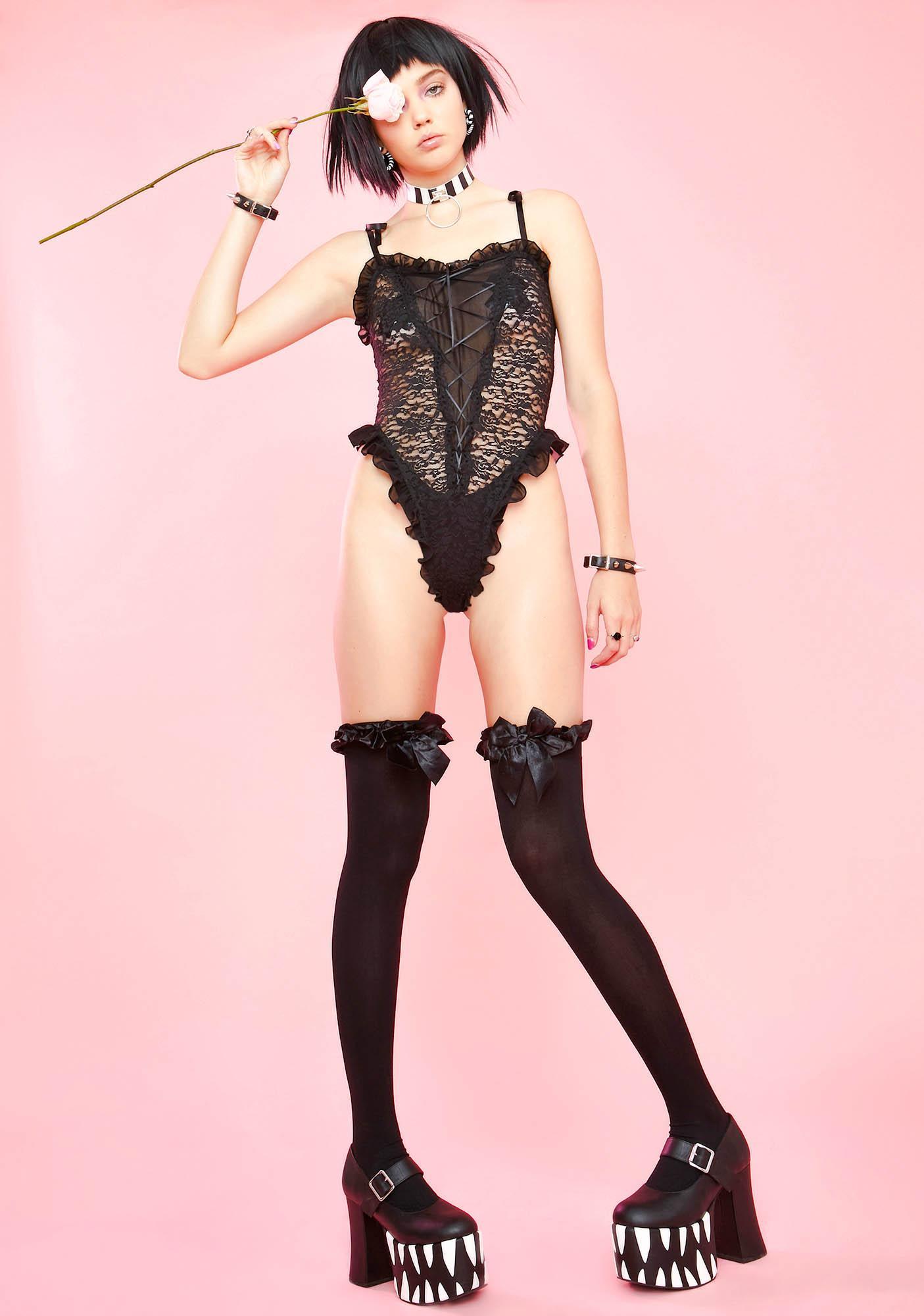 Sugar Thrillz Vampire's Bride Lace Bodysuit