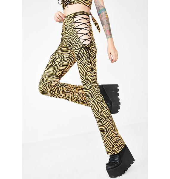 Hidden Cult Daredevil Tiger Flare Pants
