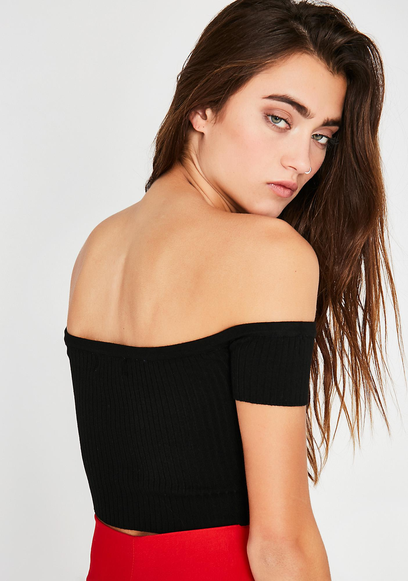 All Or Nothing Off-Shoulder Top