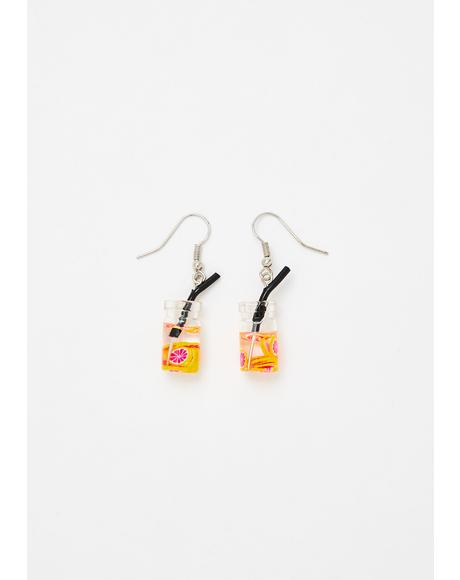 Sippin' On U Hook Earrings