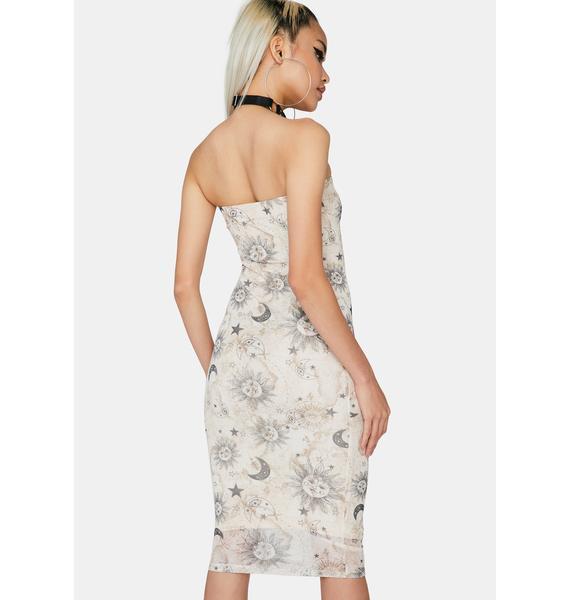 Celestial Seduction Midi Dress
