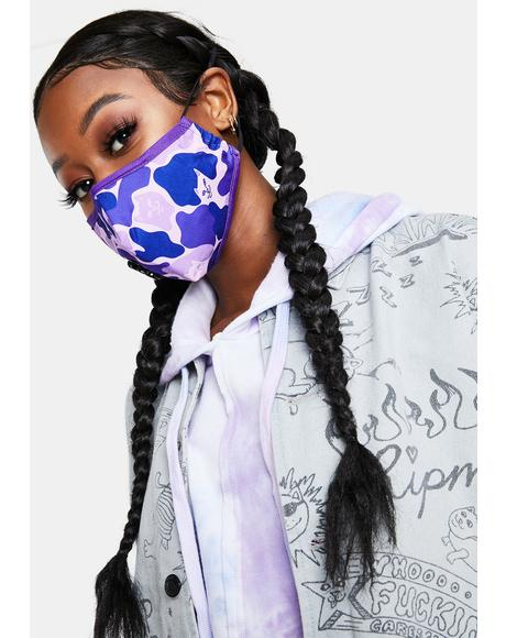 Purple Camo Ventilator Face Mask