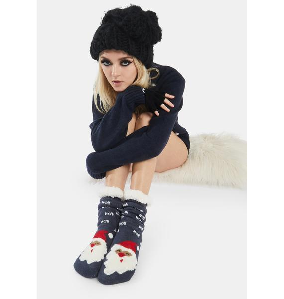 Cheerful Icon Santa Socks