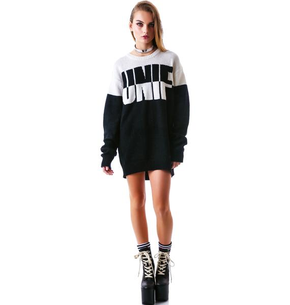 UNIF Logo Flip Sweater