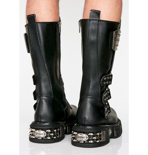 Demonia Desert Raider Unisexx Buckle Boots