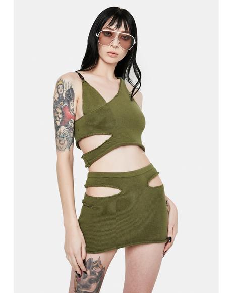 x PCL Cutout Mini Skirt