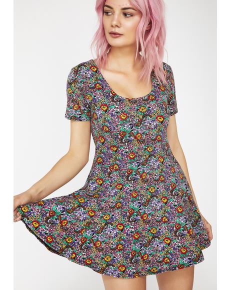 Vintage 90's Floral Dress
