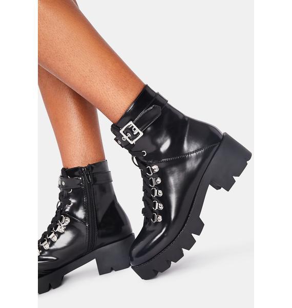 Nox I'm Supergirl Combat Boots