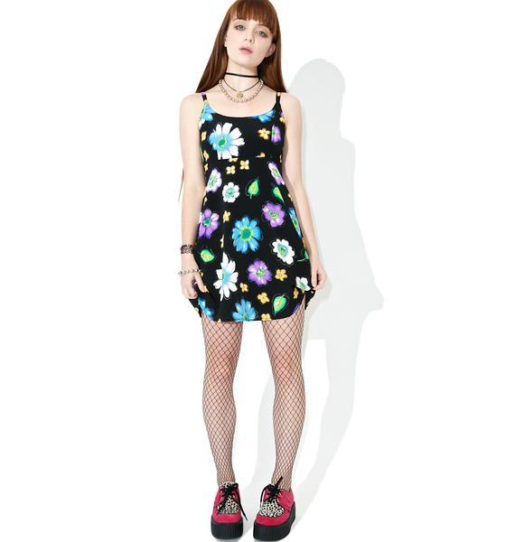 Vintage 90s Floral Babydoll Dress