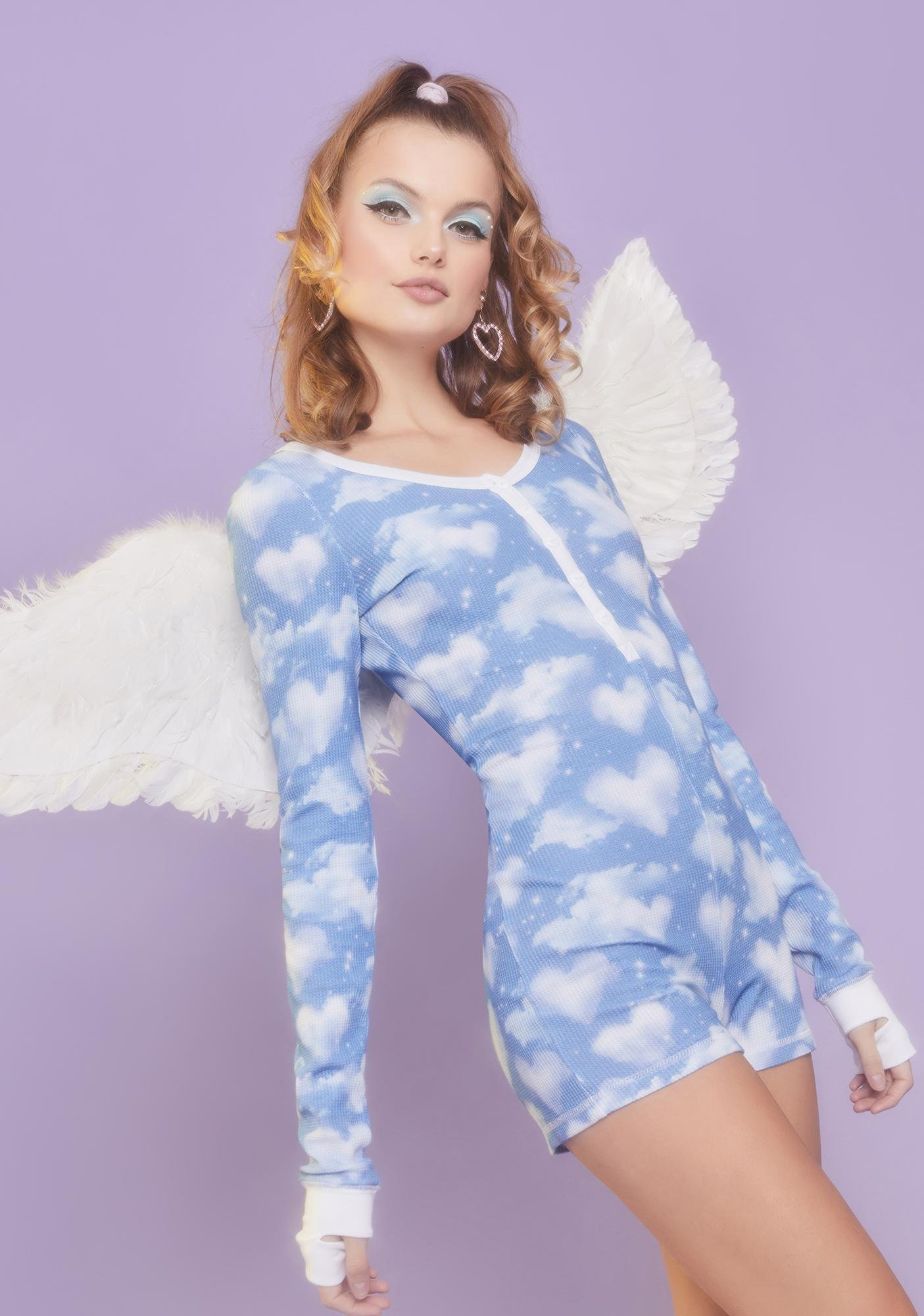 Sugar Thrillz Dreaming Of You Thermal Romper