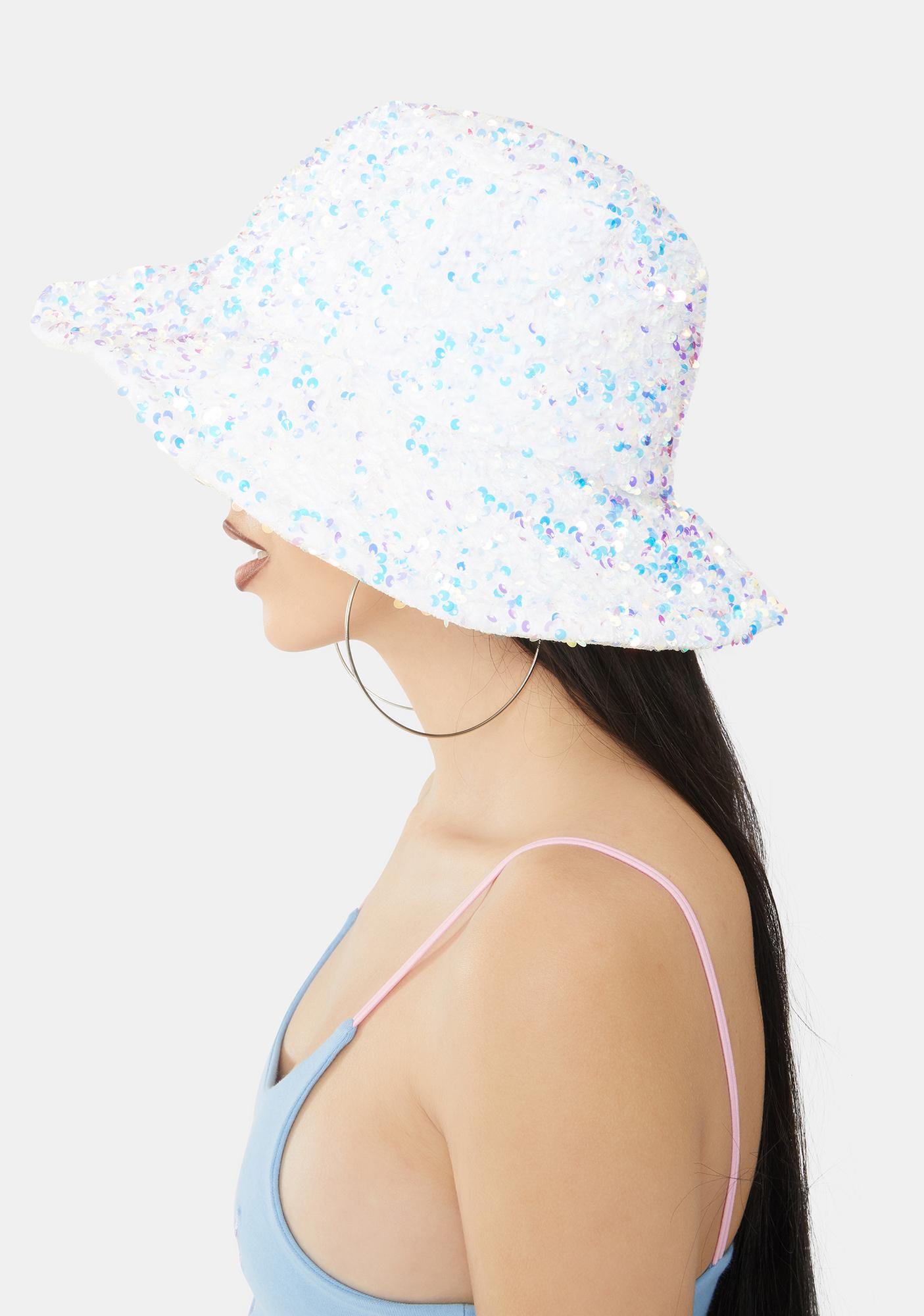 Icy Magic Sequin Bucket Hat