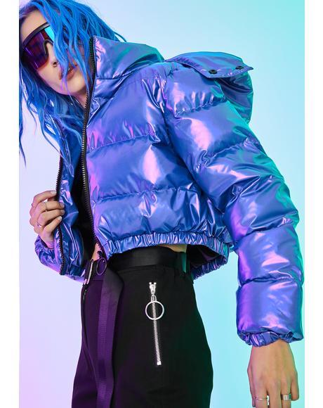 Pixel Vision Puffer Jacket