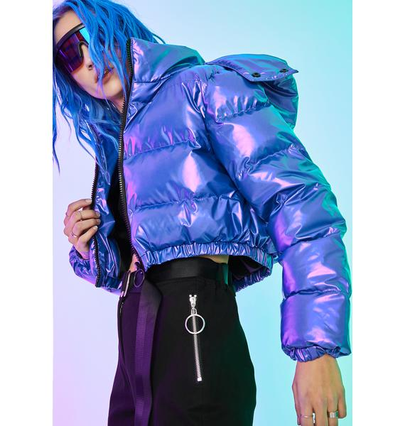 Current Mood Pixel Vision Puffer Jacket