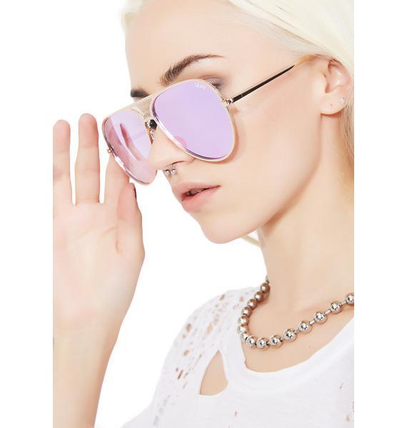 Quay Eyeware x Kylie Gold Iconic Sunnies