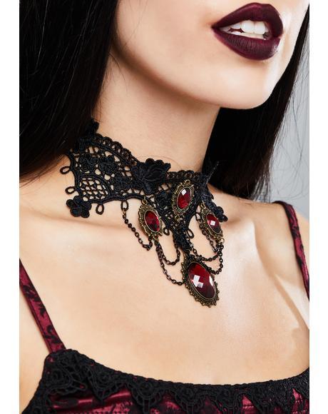 Gothic Crochet Choker