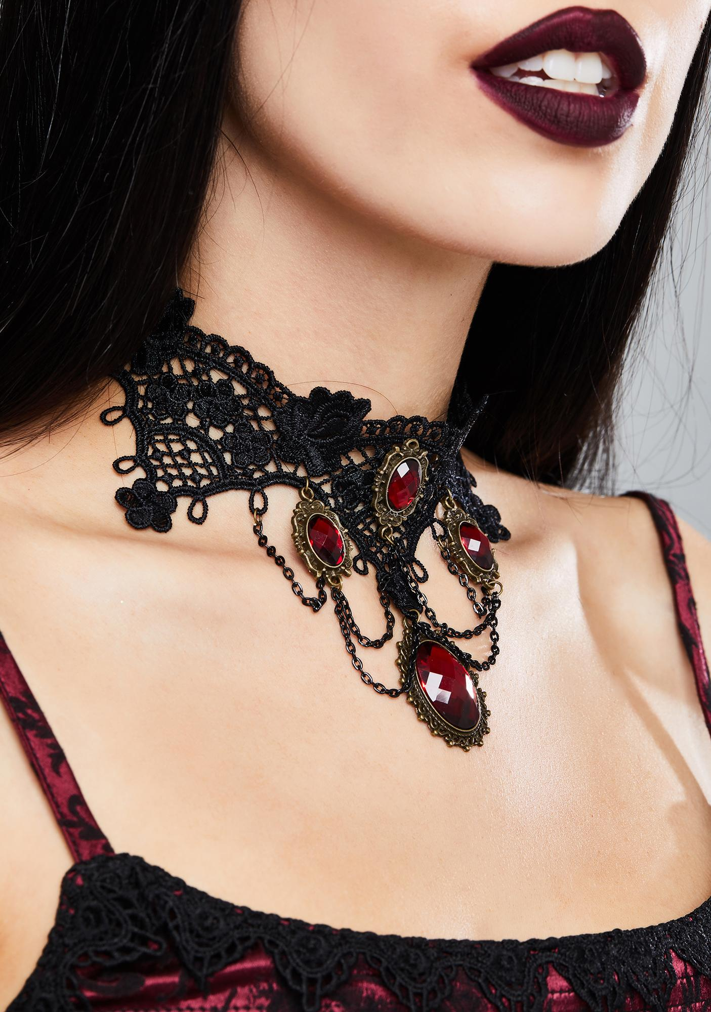 Dark In Love Gothic Crochet Choker